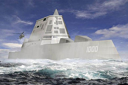 This file image released by Bath Iron Works shows a rendering of the DDG-1000 Zumwalt, the U.S. Navy's next-generation destroyer.
