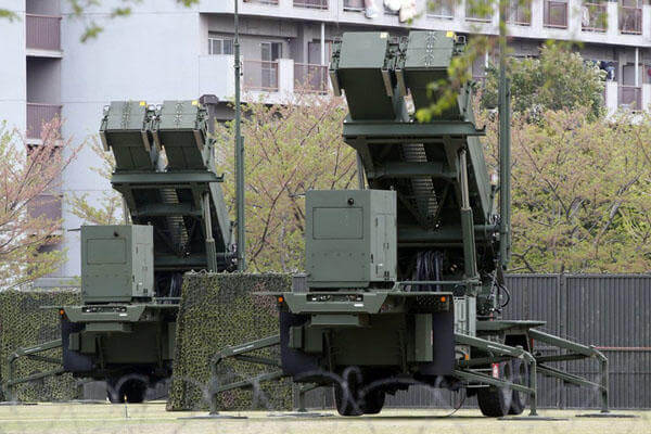 Japan Air Self-Defense Force's PAC-3 missile interceptors, shown here at the Defense Ministry in Tokyo, have been deployed in key locations around Tokyo as a precaution against a possible North Korean ballistic missile tests. AP Photo