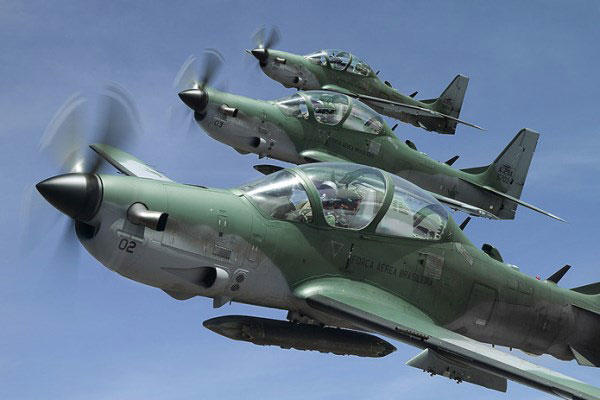The A-29 Super Tucano is a turboprop plane designed to be used as a light attack aircraft for the Afghan Air Force. (Photo courtesy Embraer)