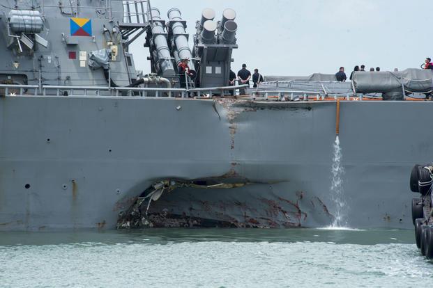 10 Sailors Missing, 5 Injured After Destroyer Collides with