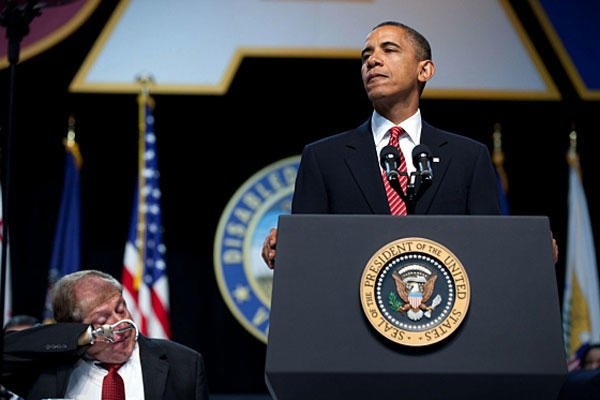 President Obama addresses the Disabled American Veterans annual convention.