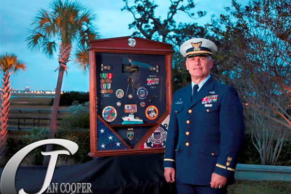coast guard officer stands out at the citadel