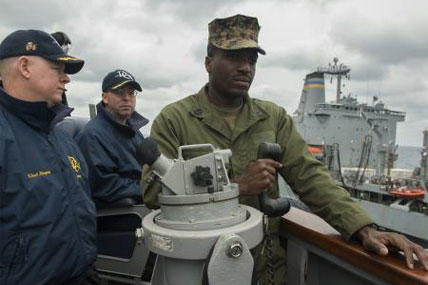 gunnery sergeant strives to become navy ensign military com
