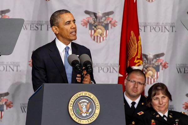 President Obama speaks at West Point.