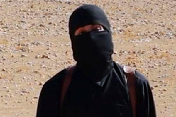"This undated image shows a frame from a video released Friday, Oct. 3, 2014, by Islamic State militants that purports to show the militant commonly known as ""Jihadi John."" (AP Photo)"