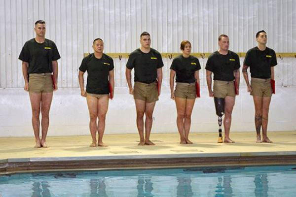 Amputee Conquers Marine Swim Course, Semi-Pro Football | Military com