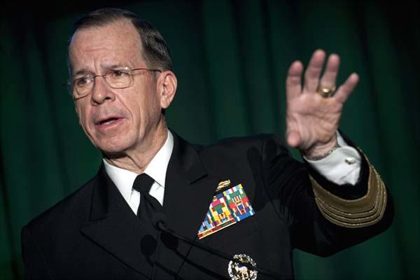 "FILE -- Retired Navy Adm. Mike Mullen addresses attendees at the Newman's Own Foundation ""Tribute to Those Who Serve"" reception at the Library of Congress in Washington, D.C., Dec. 1, 2010. (DoD photo/Petty Officer 1st Class Chad J. McNeeley)"