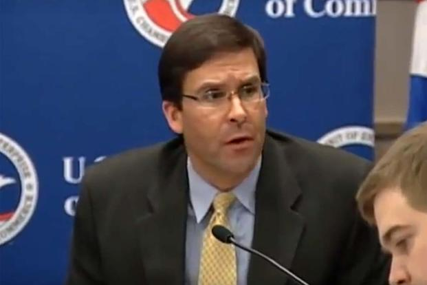 Dr. Mark Esper (Screen grab of U.S. Chamber of Commerce video)