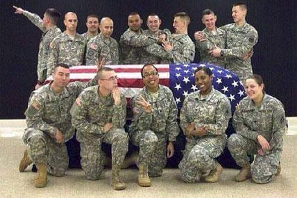 Soldier Suspended For Disrespectful Casket Photos
