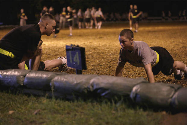 A U.S. Army Soldier conducts a Ranger Physical Assessment during the Ranger Course on Fort Benning, GA., April 20, 2015. (U.S. Army photo by Sgt. Paul Sale/Released)