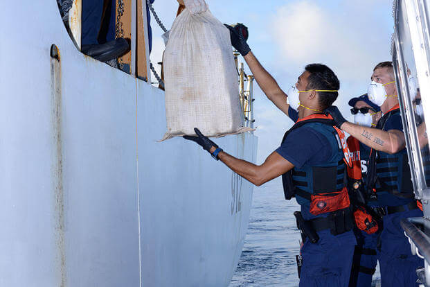 Coast Guard offloads more than $11 million worth of drugs in Miami (Photo: U.S. Coast Guard)