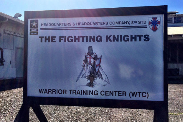 The Fighting Knights sign.