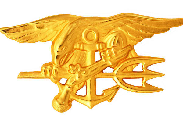 Navy Special Warfare Trident insignia worn by qualified U.S. Navy SEALs. (U.S. Navy photo)