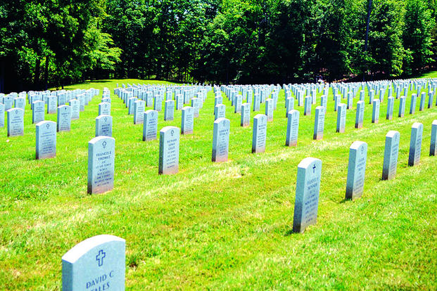 The Quantico National Cemetery spans 725-acres and was founded in 1983. The facility conducts more than 1,100 funerals annually. (U.S. Marine Corps photo/Tiffiney Wertz)