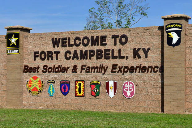 Fort Campbell gate sign (Photo: U.S. Army/Samuel Shore)