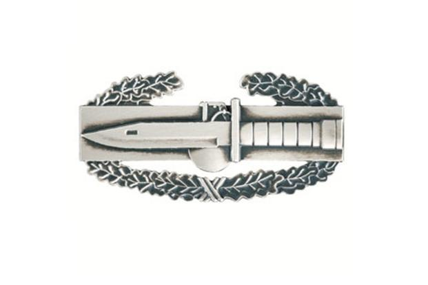 The Army has proposed creating a new Expert Action Badge, which would resemble the Combat Action Badge as shown above, featuring the M9 bayonet and the M67 fragmentation grenade but without the wreath. (Military Medals of America image)