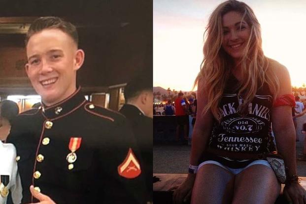 Lance Cpl. Brendan Kelly and Renee Cesario (Facebook via Love What Matters)