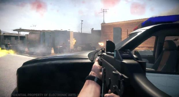 Battlefield: Hardline screenshot, cop car.