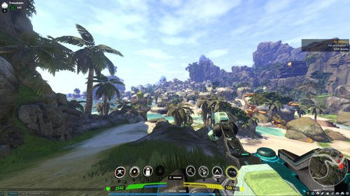 Firefall screenshot, HUD