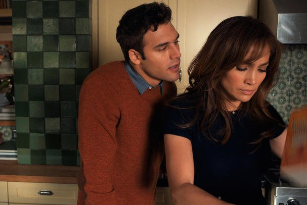 "This photo released by Universal Pictures shows, Ryan Guzman, left, as Noah and Jennifer Lopez as Claire Peterson in a scene from the film, ""The Boy Next Door."" (AP Photo/Universal Pictures, Suzanne Hanover)"