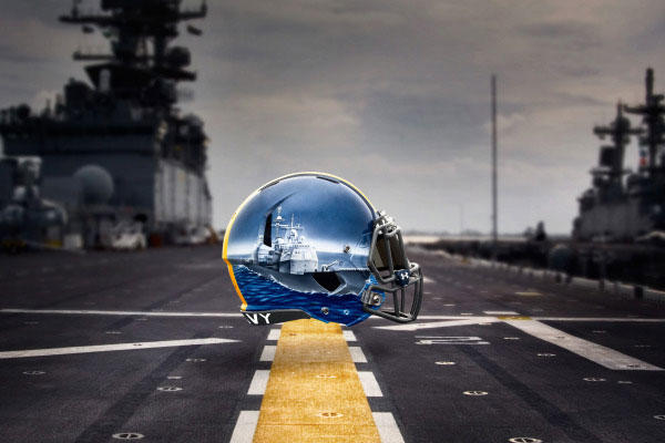 Linebacker: Cruiser -- Provides anti-air defense and packs the biggest punch of Naval surface ships representative of the linebackers on the Navy football team. (Image courtesy www.navysports.com)
