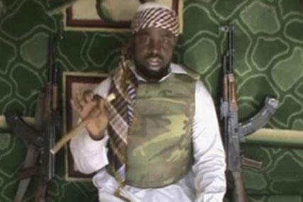 An image of Abubakar Shekau, the proclaimed leader of Boko Haram, taken from a video
