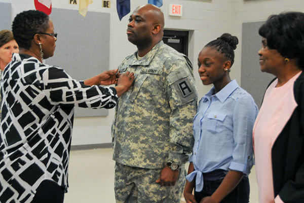 Army Sergeant Major promotion ceremony