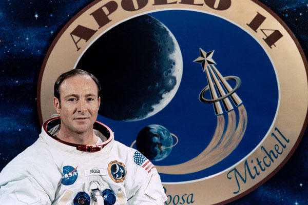 Edgar Mitchell touched down on the moon's surface 45 years ago yesterday, on Feb. 5, 1971, in the Fra Mauro highlands. It was Mitchell's only spaceflight. (NASA photo)