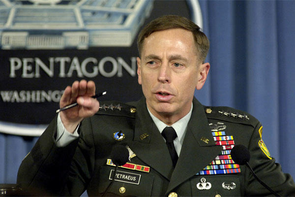 David Petraeus in the days when he served as commander of the U.S. Central Command. (US Navy photo/Molly Burgess)