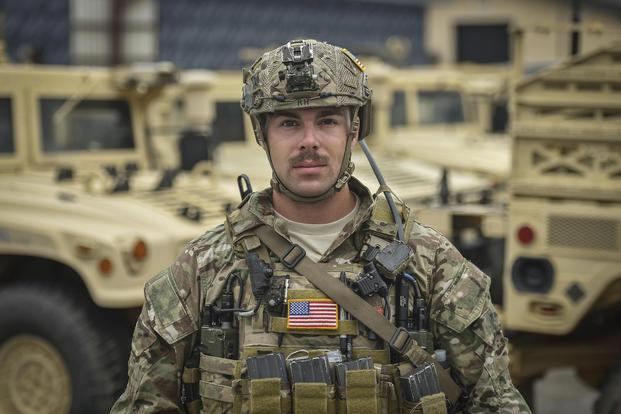 Staff Sgt. Richard Hunter, a 23rd Special Tactics Squadron combat controller, was ambushed while embedded with an Army Special Forces team in Kunduz Province, Afghanistan. He was awarded the Air Force Cross Oct. 17, 2017, for his actions. Courtesy photo