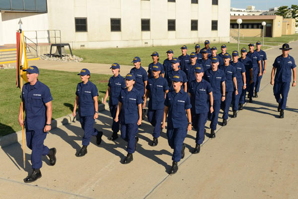Coast Guard recruits