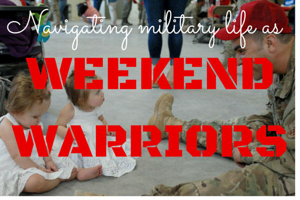 Navigating family life while you're also navigating weekend-warrior military life can bring its own set of challenges that even a former active-duty family like ours can find challenging.