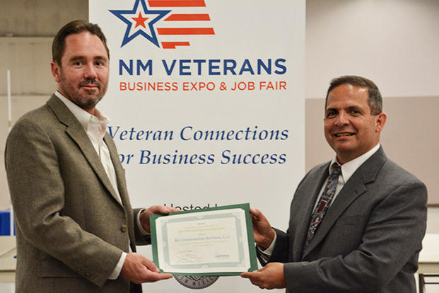 Veteran business owner and mentor with award