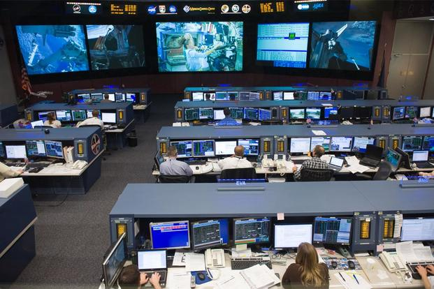 An overall view of the space station flight control room in the Mission Control Center at NASA's Johnson Space Center. (Photo: NASA)