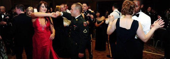 8 cheap military ball tricks for the glamour conscious