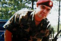 A photo of Miguel Perez Jr. when he was in the Army. Family photo
