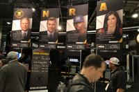 NRA booth display at SHOT Show 2018. (Hope Hodge Seck/Military.com)