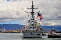 The USS Hopper (DDG 70) departs Joint Base Pearl Harbor-Hickam in September 2013. China has accused the Navy destroyer of violating its sovereign waters in the South China Sea. (US Navy photo/Rose Forest)