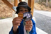 A military kid shows off his patch and Junior Ranger badge earned during a Kids to Parks Blue Star Families event at Kenai Fjords National Park, Alaska (Military.com/Amy Bushatz)
