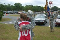 Kelly McHugh-Stewart hugs her father, Army Colonel John McHugh. (Courtesy of Kelly McHugh-Stewart)