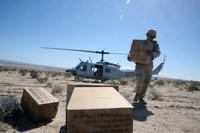 Autonomous Aerial Cargo Utility System (AACUS) provides a material resupply for Marines assigned to Combat Logistics Battalion 8 at Marine Air Ground Combat Center, Twentynine Palms, CA, May 14, 2018. (U.S. Marine Corps/ Matt Lyman)