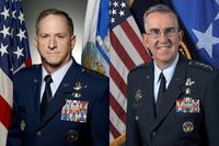 Air Force Chief of Staff Gen David Goldfein and U.S. Strategic Command's Air Force Gen. John Hyten. (U.S. Air Force Photos)