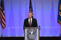 U.S. Deputy Secretary of Defense Patrick M. Shanahan speaks to Airmen during the Air Force Association's Air, Space and Cyber Conference in National Harbor, Md., Sept. 19, 2018. (U.S. Air Force photo/Anthony Nelson Jr.)