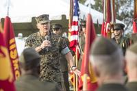 Commandant of the Marine Corps Gen. Robert B. Neller speaks to U.S. Marines with 6th Marine Regiment, 2nd Marine Division, on Camp Lejeune, N.C., Oct. 23, 2018. (U.S. Marine Corps/Cpl. Tojyea G. Matally)