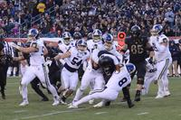 Navy's defense bottled up Army's rushing attack for most of the game at Philadelphia's Lincoln Financial Field on Dec. 8, 2018. (Military.com photo)