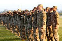 Soldiers of the Georgia National Guard salute during a welcome home ceremony held at Fort Stewart, Ga., last April. More than Guardsmen from across the state are receiving special training -- aimed at countering insider attacks from insurgents infiltrating the Afghan military. (Georgia National Guard photo/Shye Wilborn)