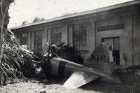 The first Japanese plane shot down during the attack on Pearl Harbor on Dec. 7, 1941. (U.S. Air Force)