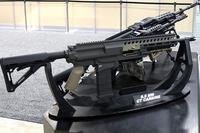 Textron Systems maintains that its Intermediate Case-Telescoped Carbine, chambered for 6.5mm, delivers 30 percent more lethality than 7.62mm x 51mm brass ammunition. Photo: Textron Systems