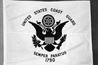 Coast Guard flag.