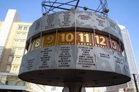 The Weltzeituhr (Worldtime Clock) at Alexanderplatz in Berlin, Germany